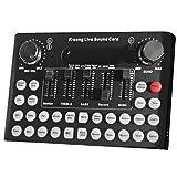DERCLIVE F9 Scheda Audio Esterna Universale Live Trasmissione Live 18 Scheda Audio Effetti Sonori per Computer Portatile Nero/Rosso