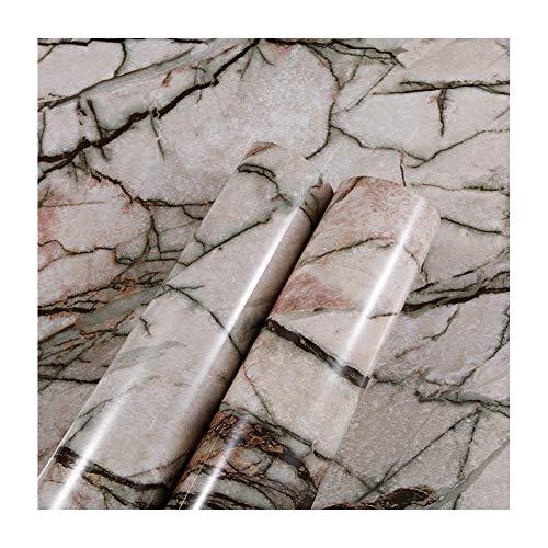 Marmor Klebefolie, Dekofolie Möbelfolie Tapeten Selbstklebende Folie Für Küche, Bad, Wohnzimmer, Esszimmer,19,60X500cm