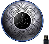 eMeet Bluetooth Konferenzlautsprecher - USB Freisprecheinrichtung fr 5-8 Personen Business Konferenz 4 AI-Mikrofon 360 Spracherkennung, mit Dongle, fr Zoom, Skype, VoIP-Kommunikation PC usw.