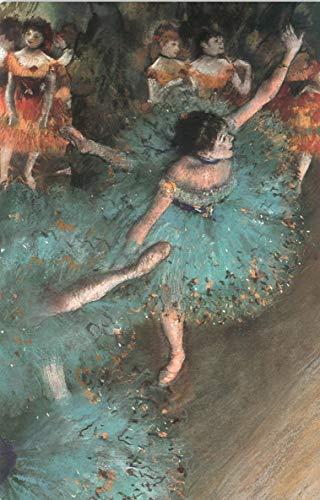 CMB _ Italia impresión sobre Lienzo, diseño de Bailarina Verde; Edgar Degas–50x 70cm–Sin Bastidor