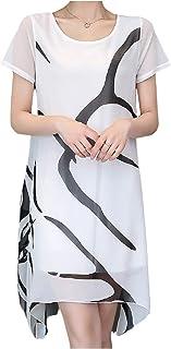 [エムエルーセ] シースルー ワンピース 半袖 夏 2枚重ね マイクロ丈 大人 ドレス アップ 涼しい 2カラー L - 3XL レディース