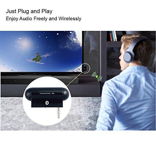 AleadTxProBluetoothワイヤレスマルチリンクステレオオーディオトランスミッタ(A2DP)3.5mmオーディオプラグ、iPod、iPad、Zune、禅、サンシャ、MP3プレーヤー、PSP、任天堂3D、テレビ、カーステレオ、ホームステレオ