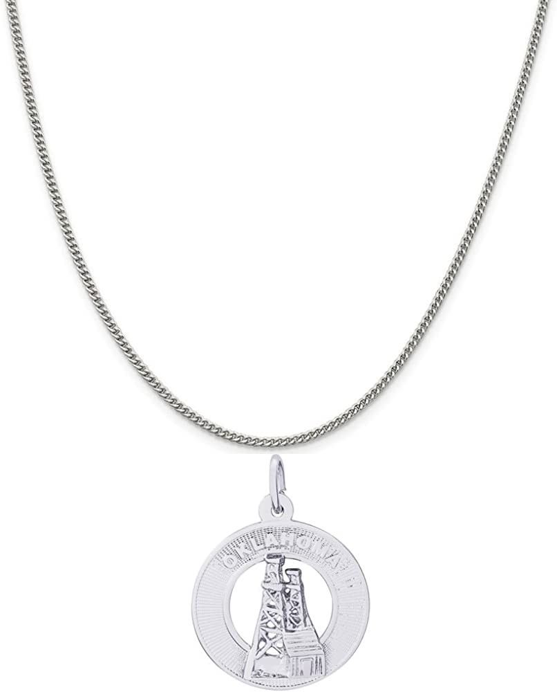 Rembrandt OFFicial Charms Sterling Silver Oklahoma Oil quality assurance a 1 Charm on Field