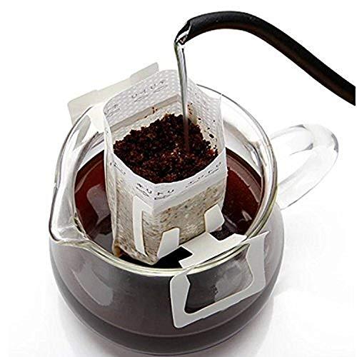 Bolsa de papel para filtro de café, 100 unidades, para colgar, para el oído, para café, para usar en casa, viajes, oficina, diario