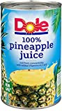 Dole Pineapple Juice, 46 oz Can, Pack of 2