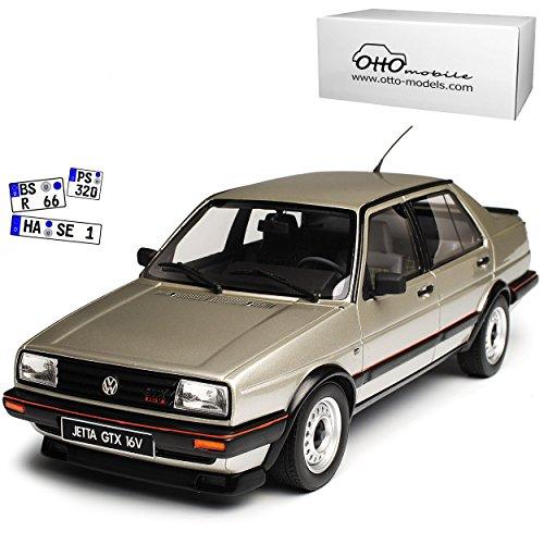 Volkwagen Jetta GTX 16V Limousine Silber II 2. Generation 1984-1992 Nr 742 1/18 Otto Modell Auto mit individiuellem Wunschkennzeichen