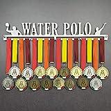 Water Polo - Medagliere da Parete - Porta medaglie Pallanuoto, Palla a Nuoto - Sport Medal Hanger - Display Rack (450 mm x 80 mm x 3 mm)