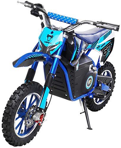 Actionbikes Motors Mini Kinder Crossbike Viper 1000 Watt - 36 Volt - Wave Scheibenbremsen - 3 Geschwindigkeitsstufen - Pocket Bike - Motorrad - Motocross - Dirtbike - Enduro (Viper 1000 Watt Blau)