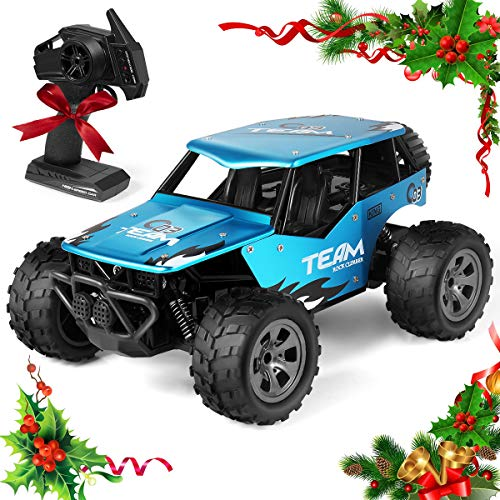 RC Cars Remote Control car, Off Road Cars Vehicle 4WD 2.4Ghz Crawlers Off Road Vehicle Toy Remote Control Car, Best Gift for 3 4 5 6 7 8-12 Year Old boy Toys