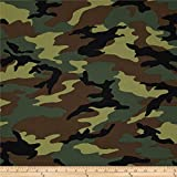 Windham Quilt Fabrics 0295842 Army Camo Green Quilt Fabric by The Yard