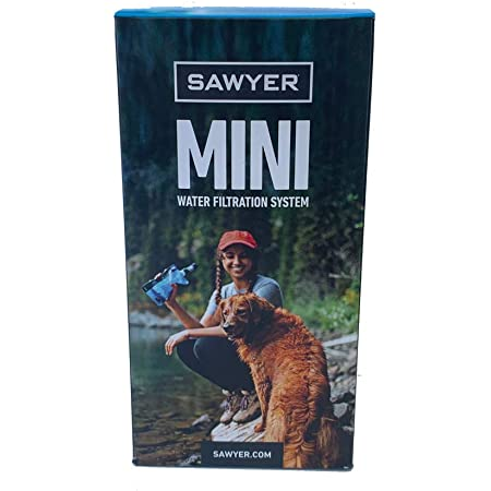 Sawyer Mini sistema di filtraggio acqua PointONE filter Outdoor & Trekking (Blu SP128)