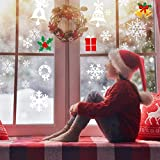 AmzKoi 160 Fensterbilder Selbstklebend, 6 Blätter Schneeflocken Fenstersticker Winter Deko Weihnachtsdeko, Fensterbilder Schneeflocken Wiederverwendbar - 9