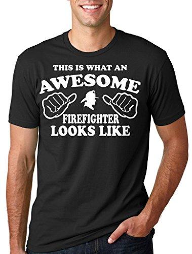 Silk Road Tees Camiseta del Bombero de los Hombres de la profesión Regalo para el Padre de Navidad del día de Padre Camiseta del Regalo