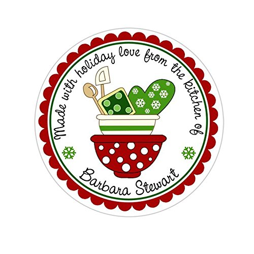 Choose Your Size Christmas Sweets Candy Personalized Customized Holiday Christmas Gift Stickers Round Labels