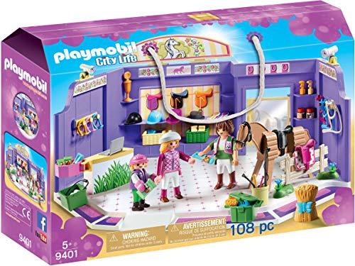 PLAYMOBIL City Life Tienda de Equitación, A partir de 5 años (9401)