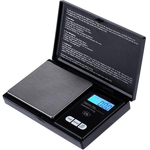 0,01 g 100 gram Electronic Mini numérique de poche Bijoux Or pesant Poids balance Piles incluses
