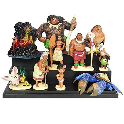 Geschenk Geburtstag 10pcs/set Cartoon Moana Prinzessin Legende Vaiana Maui Chef Tui Tala Heihei Pua Action Figur Dekor Spielzeug Für Kinder Geburtstagsgeschenk