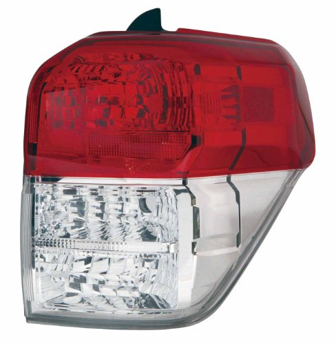DEPO 312-19A5R-UC1 Toyota 4-Runner Passenger Side Tail Lamp Lens Housing, Red