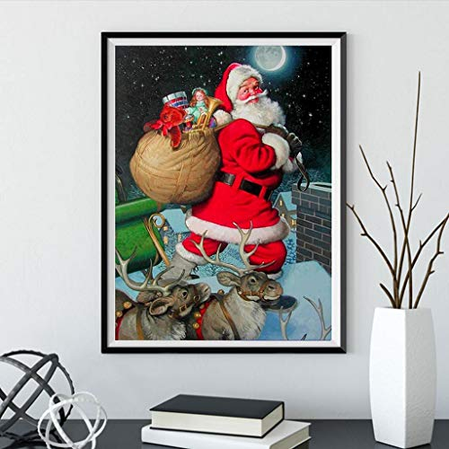 Diamond Painted DIY 5D Diamond Painted Beach Kit, Christmas Wall Decoration, Christmas Holiday Party Decoration