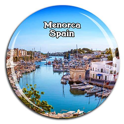 Weekino Menorca España Imán de Nevera Cristal 3D Cristal Ciudad Turística Recuerdo de Viaje Colección Regalo Fuerte Etiqueta Engomada del refrigerador