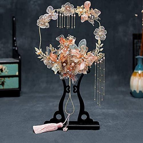 Sgxiyue Avena de Mano de Bridal clásico Antiguos Perlas de Novia Flores Artificial apliquen Cristal Boda Ramo de Boda