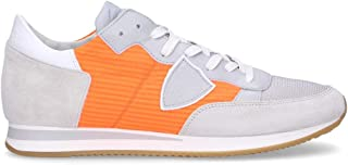 PHILIPPE MODEL Men's TRLUW013 Orange Fabric Sneakers