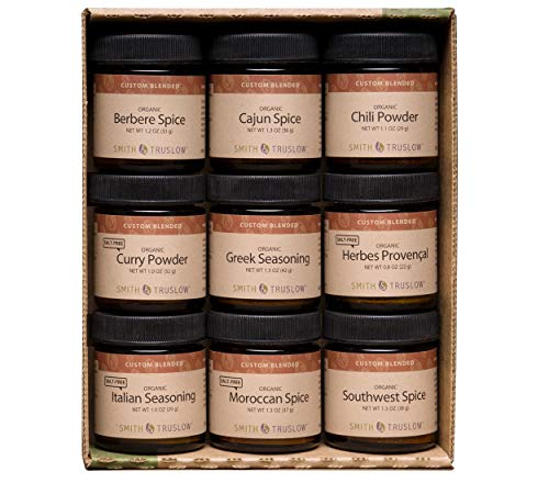 Smith & Truslow World Traveler Gift Set (9 Jar Set) Organic and Gourmet International Spices and Seasonings for Everyday Cooking