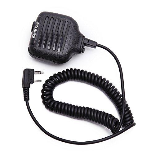 EasyTalk Mini Micrófono de Mano con PTT Altavoz para KENWOOD RETEVIS PUXING WOUXUN TYT HYT BAOFENG POFUNG Walkie-Talkie