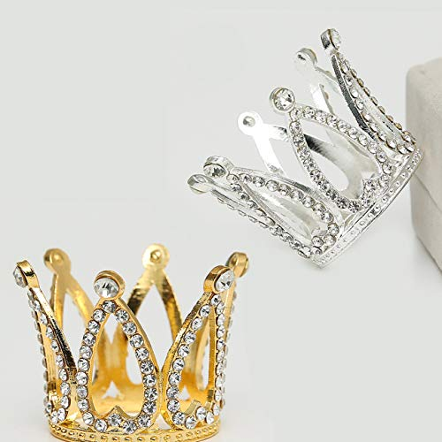 6 Pcs Crown Cake Topper Crown Tiara Queen Crown Princess Headpiece Cake Decoration for Women Lady Girl Bridal Wedding Royal Themed Baby Shower Decorations Birthday Party (Set A)