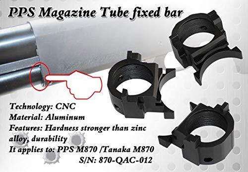 [首回りのガタ解消] PPS M870ガスショットガン用 CNCアルミ加工 マグチューブエンド 870-QAC-012