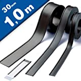 Porta-etichette magnetiche Profilo a C - 1 metro - Larghezza 30mm - con cartoncino bianco ...
