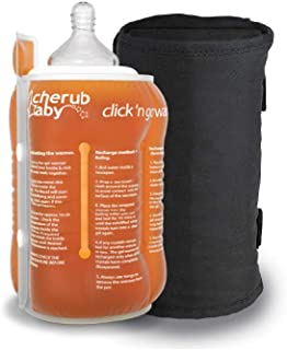 Cherub Baby Click 'n Go Travel Bottle Warmer and Travel Bag, Orange/Black