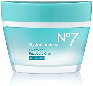 No7 Hydraluminous Overnight Recovery Cream For Drier Skin (