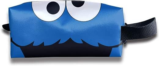 Cookie-Monster Novelty Art Travel Bag Cosmetic Bags Brush Pouch Portable Makeup Bag Zipper Wallet Hangbag Pen Organizer Carry Case Wristlet Holder