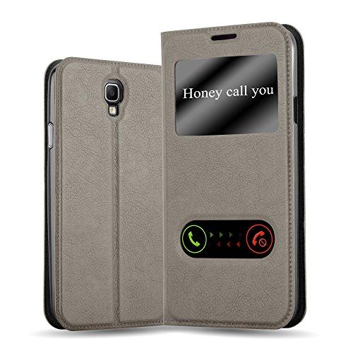 Cadorabo Funda Libro para Samsung Galaxy Note 3 Neo en MARRÓN Piedra - Cubierta Proteccíon con Cierre Magnético, Función de Suporte y 2 Ventanas- Etui Case Cover Carcasa