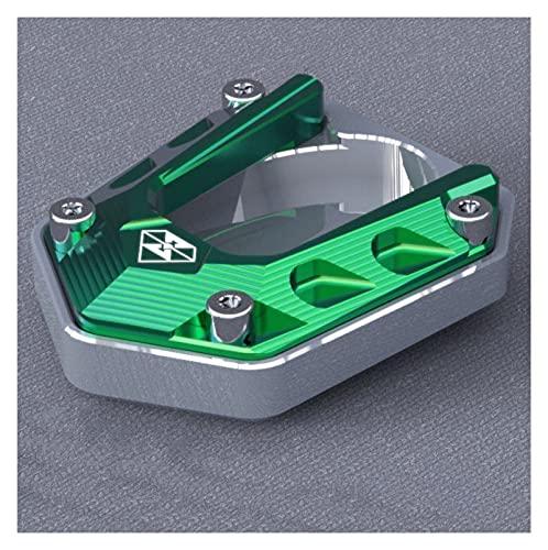 Motocicleta CNC Pata de Cabra Lateral Ninja 400 Sight Seat Seat Modificado Modificado Apoyo Accesorios Motocicleta Z400 Pequeño Trípode Antideslizante Ampliar Base Base Bestia (Color : Green)