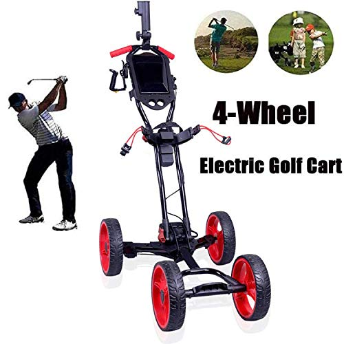 DHYBDZ Carritos de Golf eléctricos con batería de Litio, 4 Ruedas Carrito de Golf Plegable Función de despliegue de un botón Carritos de Golf eléctricos con Soporte