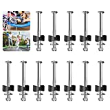 12 Pack Trampoline Screws, Steel Trampoline Accessories, Trampoline Replacement Screw Parts, Trampoline Bolts And Nuts Suitable for Large Trampolines and Small Trampolines Jump Stability Tool