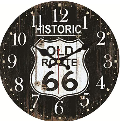 Wanduhr schwarz historische Route K chen Uhr Wanduhr groß leise rustikale Wohnkultur Uhren 30,5 cm