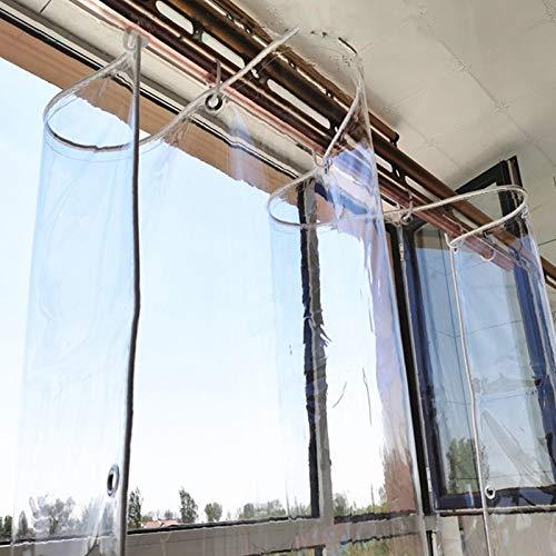 Transparente PVC Plane 0.35mm Wasserdichte Abdeckplane und Vordächer Kunststoffplane Fensterfolie Pflanzendach Regenschutz Klarsicht-Folie Regen Vorhang,Wetterfeste Tarp,mit...