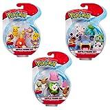 Ritzy Rollerz 95155 Pokemon-Battle Paquete de 3 Figuras Wave 3 Personajes enviados al Azar, Multi