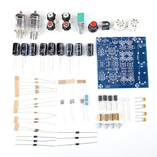 Ftvogue 6J1 VáLvula de Tubo de Electrones de VacíO Placa de Amplificador de Preamplificador Partes de Amplificador de Auriculares Fidelidad Musical Kit Sin Ensamblar Para Mp3 / Dvd/TeléFonos MóViles