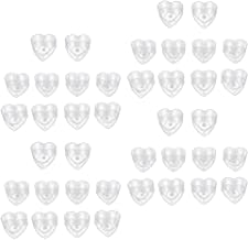 Prettyia 40 Pack Tea Light Clear Plastic Cups, Love Heart Shapes Polycarbonate Tealight Cups Holders 40x12mm Stackable Emp...
