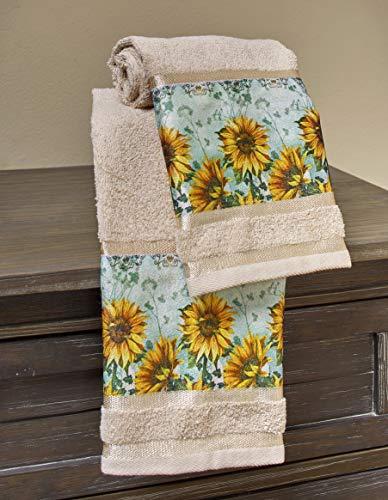 The Lakeside Collection - Toallas de mano para baño o cocina con estampado floral