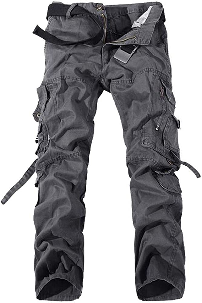 AKARMY Men's Price reduction Casual Work 70% OFF Outlet Pants Fit Army Cotton Military Relaxed