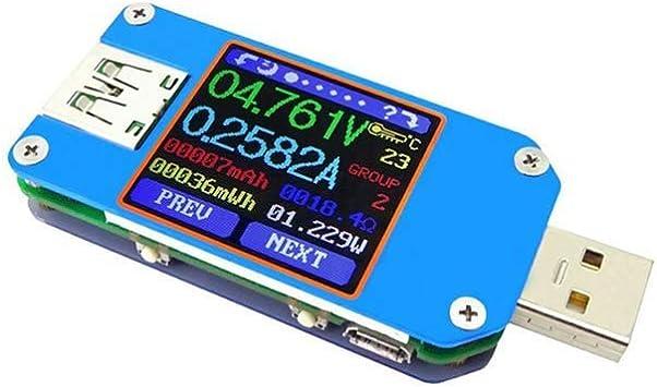 Um25 Um25c Für App Usb 2 0 Typ C Lcd Voltmeter Amperemeter Spannung Strom Meter Ladekabel Widerstand Usb Tester Um25 Baumarkt