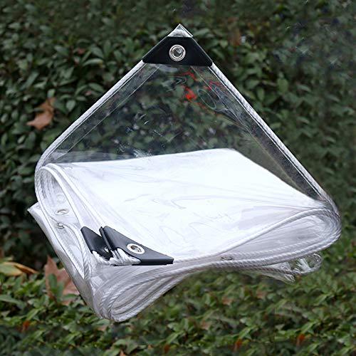 Lonas Impermeables Exterior,0,35mm Lona de Protección Impermeable Vaso Transparente con Ojales,para Techo,Camping,Exterior,Patio,Toldo de Planta Tela de Plástico (1x6m/3.2x19.7ft)