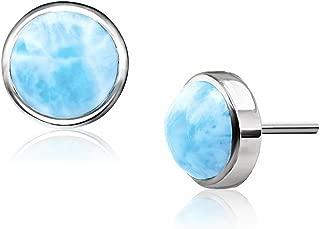 Marahlago - Basics Collection Round Larimar Post Earrings