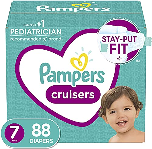 Product Image of the Diapers Size 7, 88 Count - Pampers Cruisers Disposable Baby Diapers, ONE MONTH...