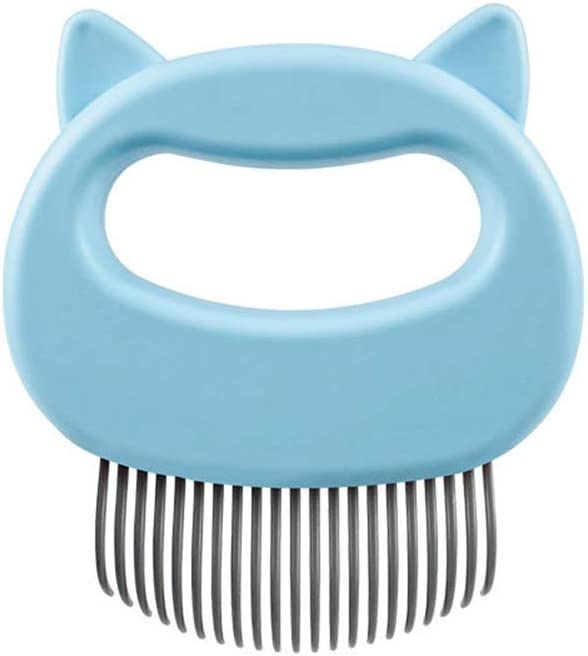 HKKAIS Pet Cat Brush - Hair Comfy Super special price D Removal Comb Classic Massaging Shell